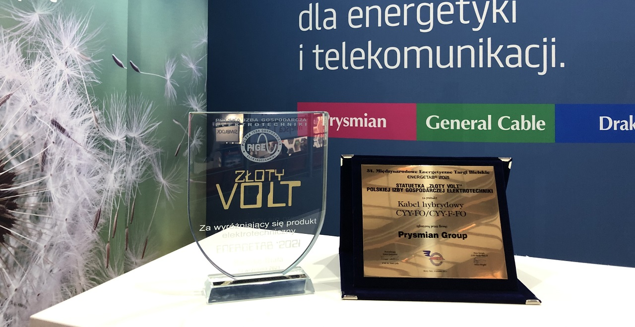 Cablul hibrid premiat la ENERGETAB POLONIA 2021